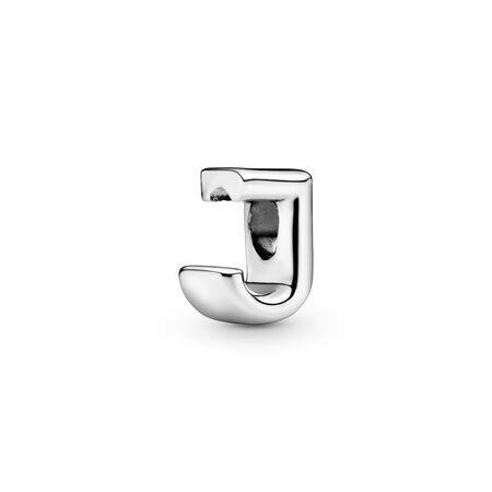 Letter J Charm, Sterling silver - PANDORA - #797464