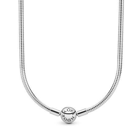 Sterling Silver Charm Necklace, Sterling silver - PANDORA - #590742HV