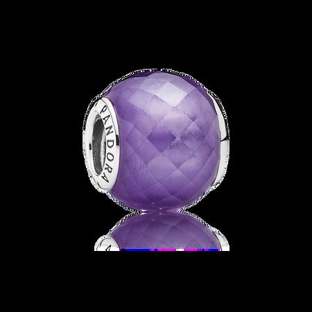 Petite Facets Charm, Purple CZ