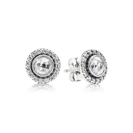 Brilliant Legacy Stud Earrings, Clear CZ