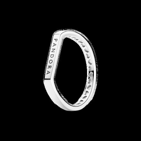 Logo Bar Stacking Ring