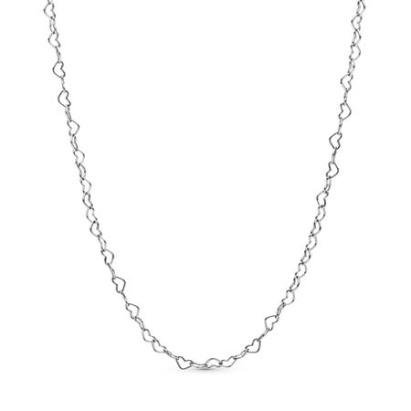 JoinedHearts Necklace, Sterling silver - PANDORA - #397961