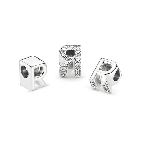 Letter R Charm, Sterling silver - PANDORA - #797472