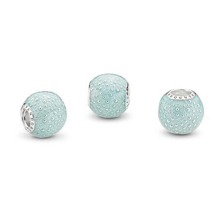 Aqua Enchantment Charm, Blue Enamel, Sterling silver, Enamel, Blue - PANDORA - #797091EN155