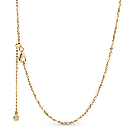 PANDORA Shine™ Necklace, 18ct Gold Plated, Silicone - PANDORA - #367080