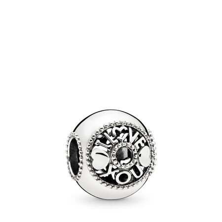 Talk About Love Charm, Sterling silver - PANDORA - #796601