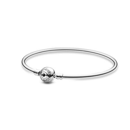 Disney, Princess Jasmine & Aladdin Bangle Bracelet, Sterling silver, Cubic Zirconia - PANDORA - #598037CZ
