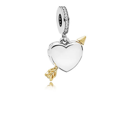 Limited Edition Arrow of Love Charm, Clear CZ