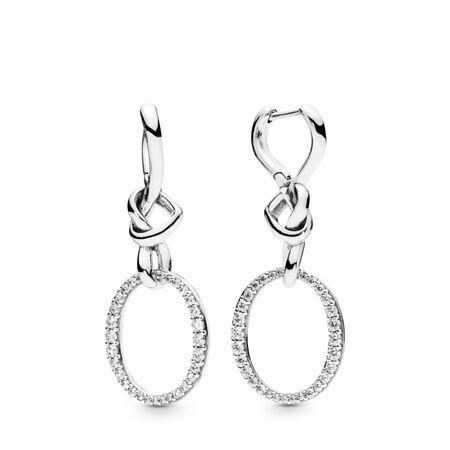 Knotted Heart Dangle Earrings