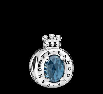 Blue Sparkling Crown O Charm