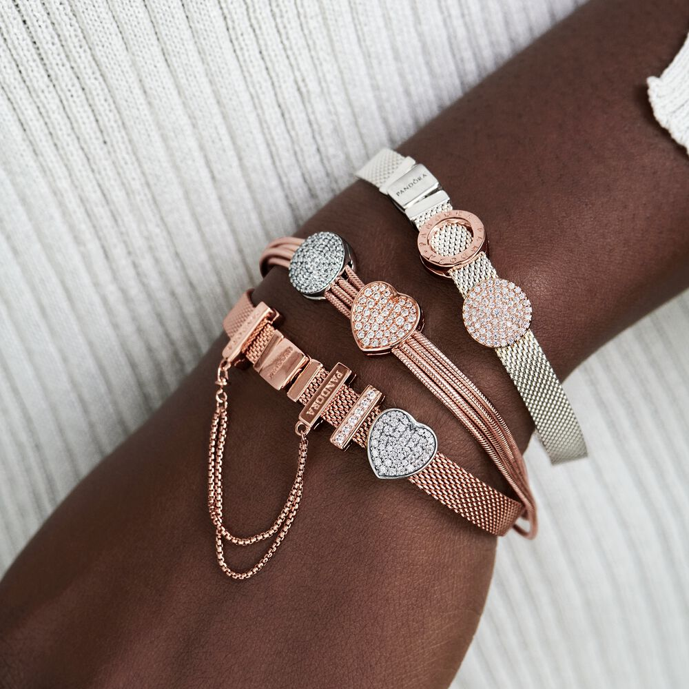 Safety Chain Clip Charm | Rose gold plated | Pandora US