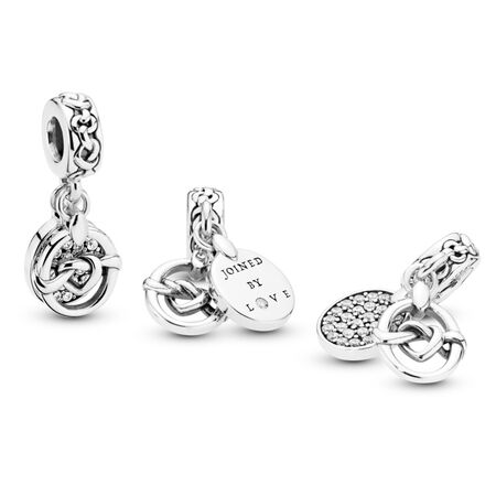 Knotted Heart Dangle Charm