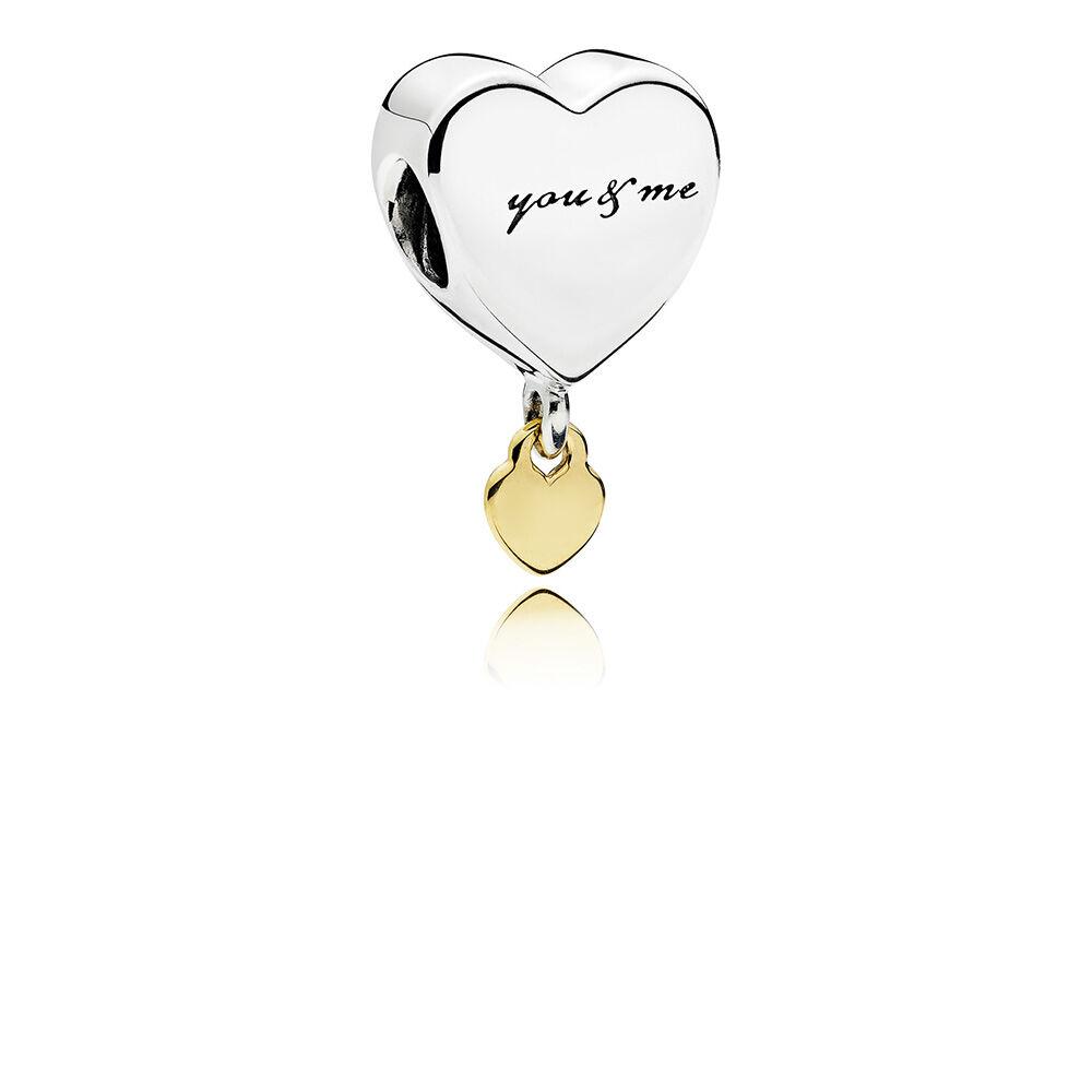 Two Hearts Dangle Charm | PANDORA Jewelry US