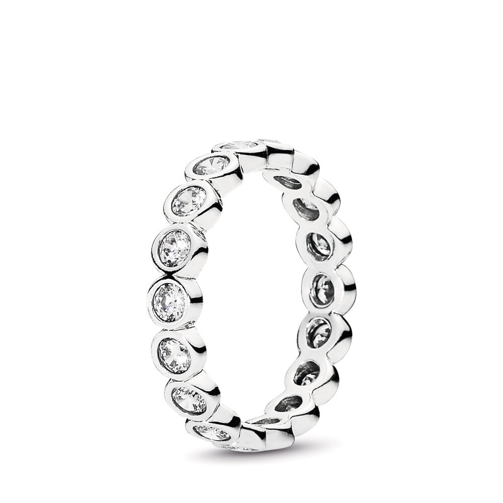 2548507e3 Alluring Brilliant Stackable Ring, Clear CZ, Sterling silver, Cubic Zirconia  - PANDORA -