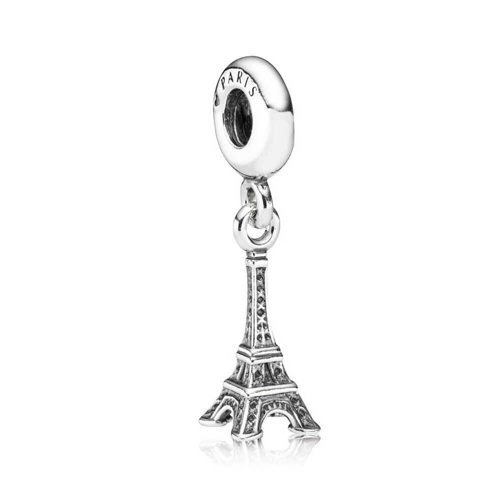 925 Sterling Silver Charm Eiffel Tower Travel Paris Fit Pandora Bracelets Charms-Shining Charm bQxTb7w7