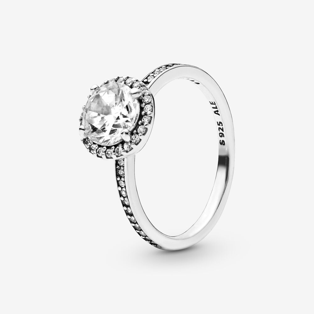 Classic Elegance Ring with Cubic Zirconia | Sterling silver ...