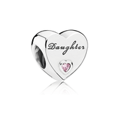 Daughter's Love Charm, Pink CZ