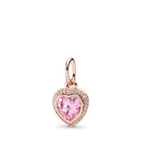c4630bce6 Sparkling Love Pendant, PANDORA Rose™ & Pink & Clear CZ PANDORA Rose, Cubic  Zirconia