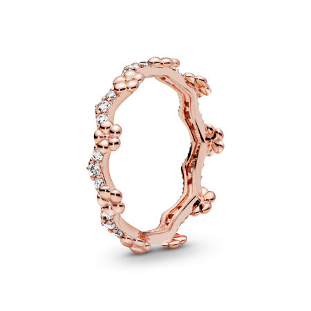 Flower Crown Ring, Pandora Rose™, PANDORA Rose, Cubic Zirconia - PANDORA - #187924CZ