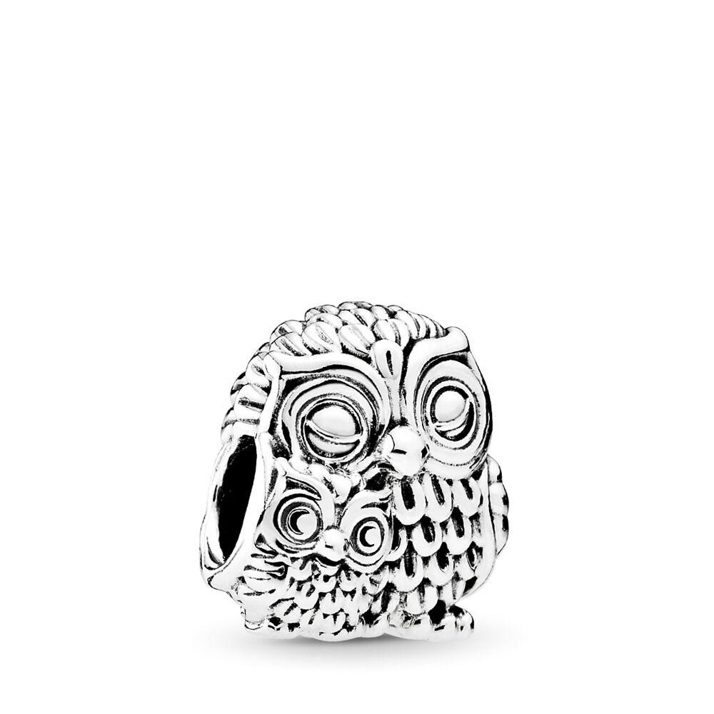 a614ed517 Charming Owls Charm, Sterling silver - PANDORA - #791966