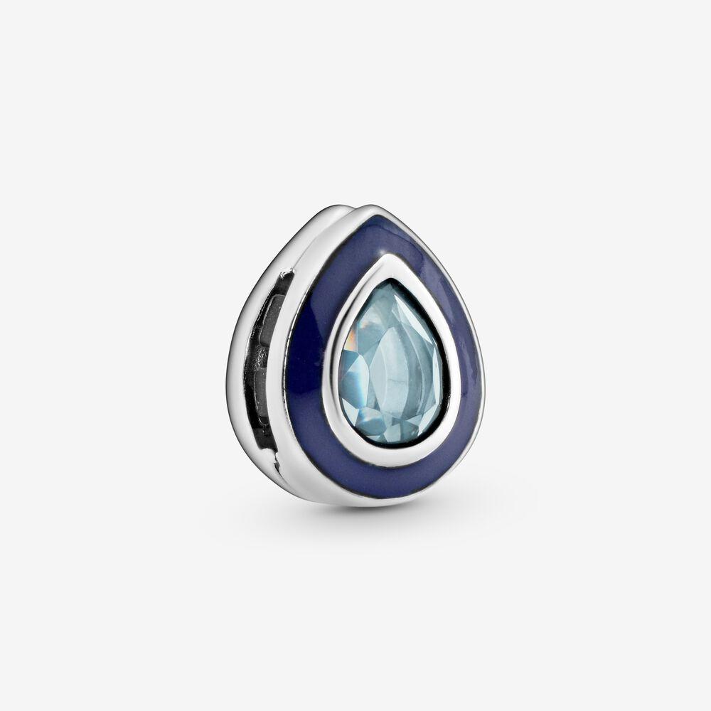 Blue Teardrop Clip Charm