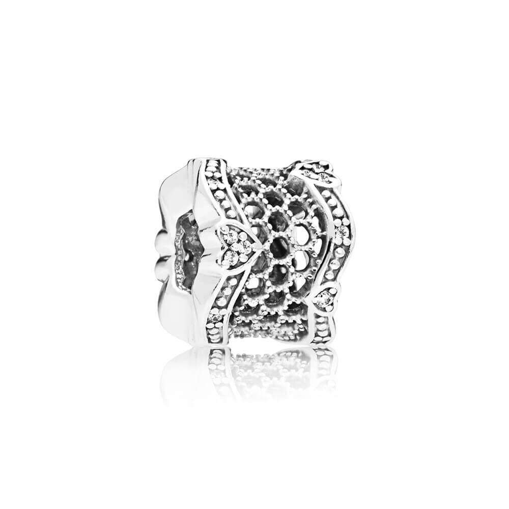 Lace Of Love Spacer Clear Cz Pandora Jewelry Us