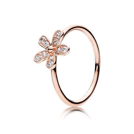 Sparkling Bow Ring Clear CZ & 14K Gold