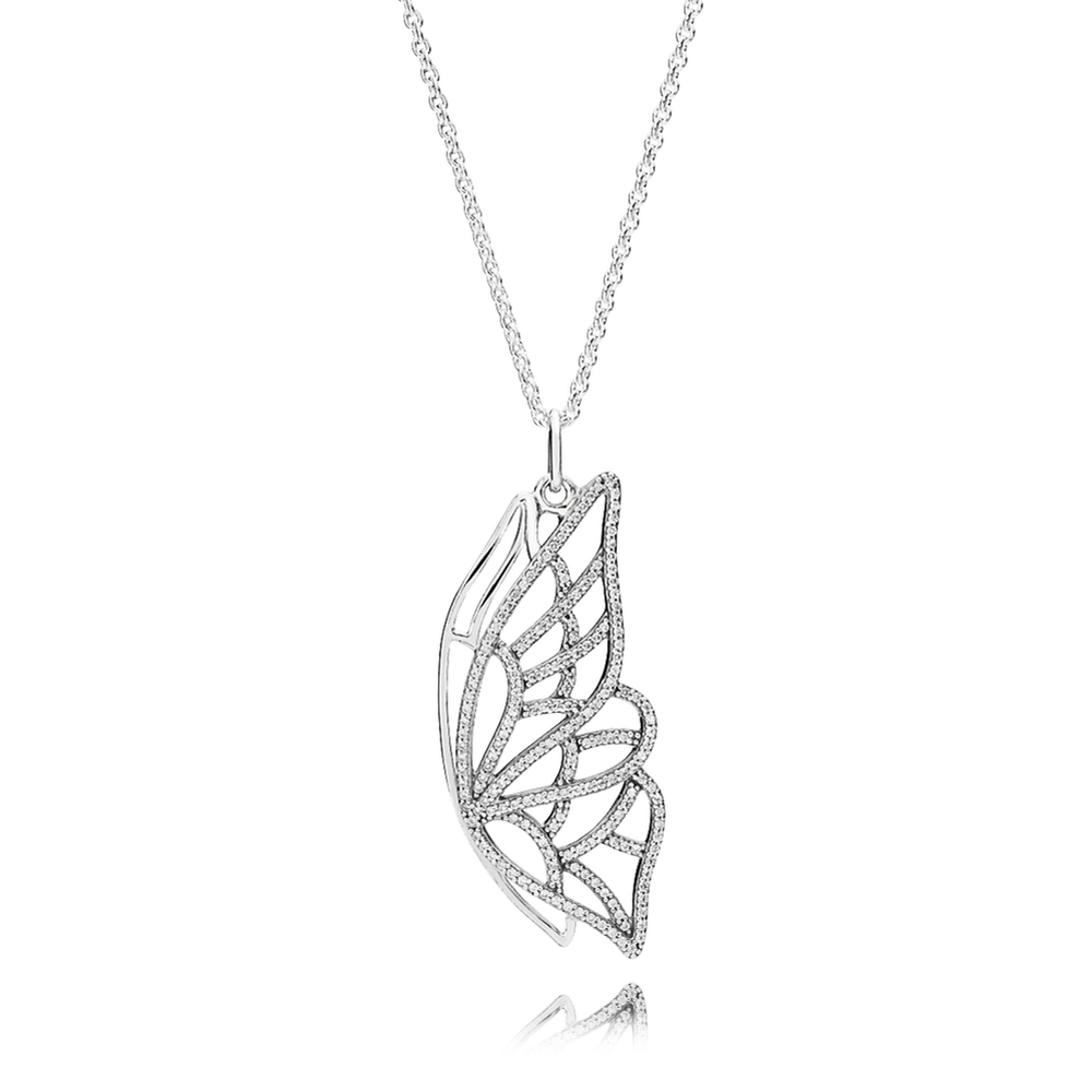 Butterfly pendant necklace in clear cz pandora us new beginning butterfly pendant necklace clear cz aloadofball Images