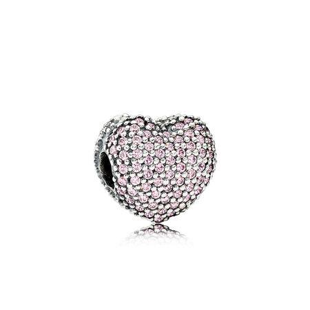 Pavé Open My Heart Clip, Pink CZ