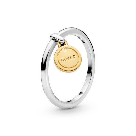 Medallion of Love Ring, PANDORA Shine™, PANDORA Shine and sterling silver - PANDORA - #167823