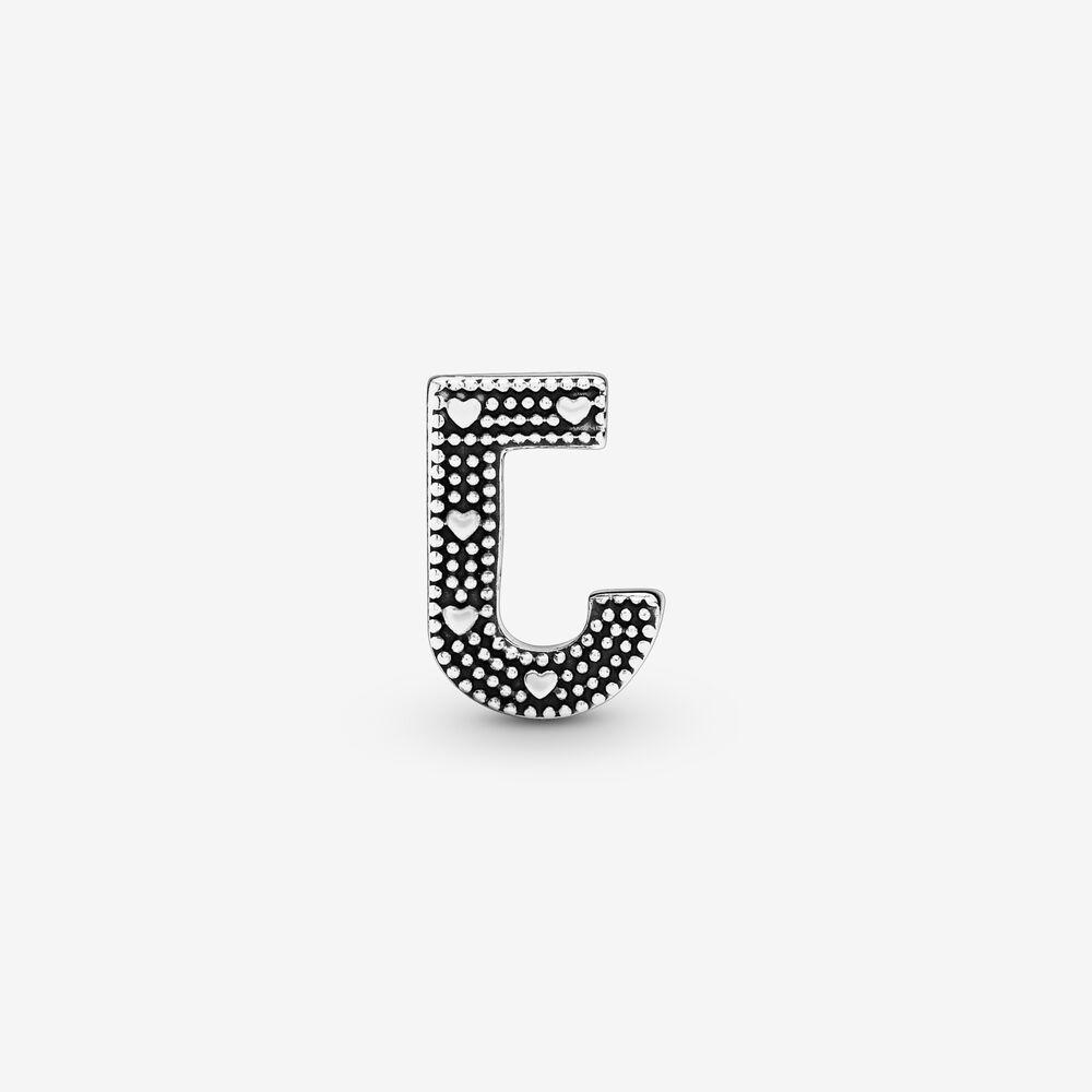 lettera j charm pandora