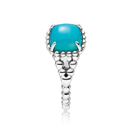 Vibrant Spirit Ring, Scuba Blue Crystal