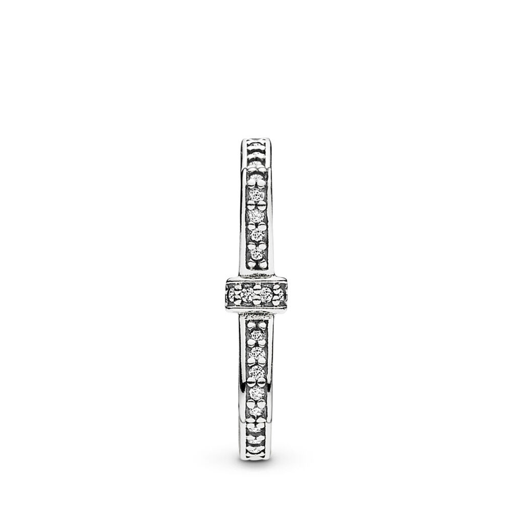 65a378412 Sparkling Bow Ring, Clear CZ, Sterling silver, Cubic Zirconia - PANDORA - #