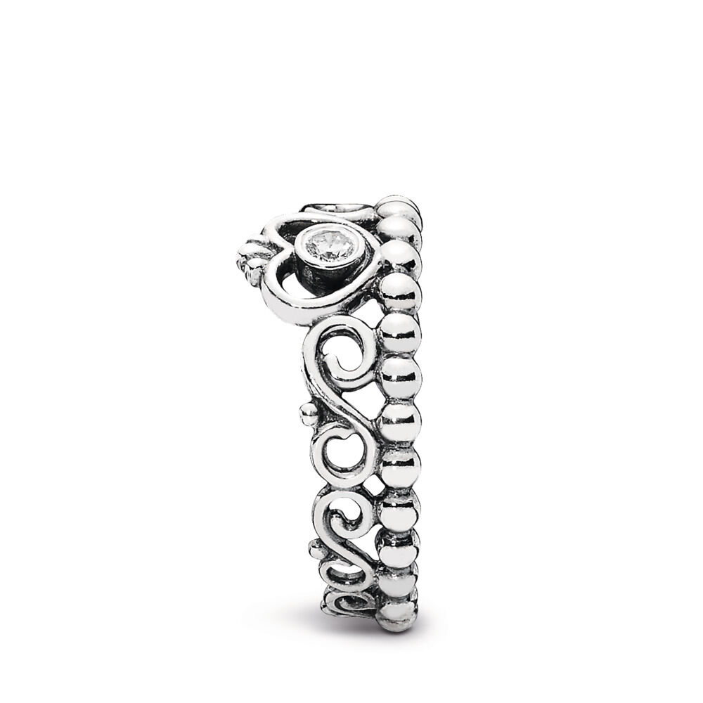 2248f88a8 Princess Tiara Crown Ring, Sterling silver, Cubic Zirconia - PANDORA -  #190880CZ