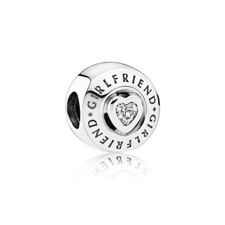 Girlfriend Charm, Clear CZ