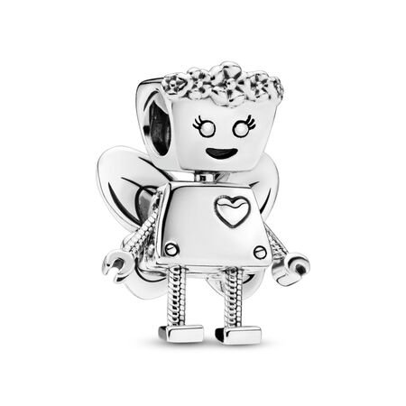 Limited Edition Floral Bella Bot Charm, Sterling silver - PANDORA - #797856