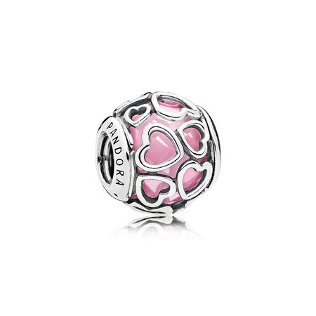 Encased in Love Charm, Pink CZ