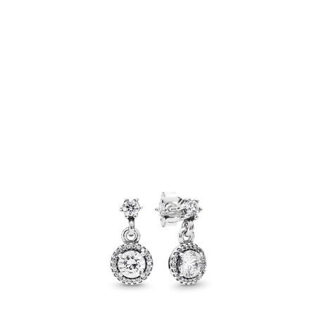 59227add5 Classic Elegance Drop Earrings, Clear CZ