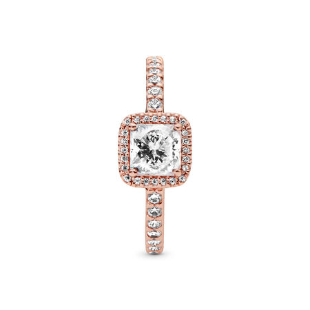 Timeless Elegance Ring, PANDORA Rose™ & Clear CZ