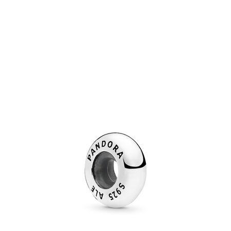 Classic Shine Open Bangle Spacer, Sterling silver, Silicone - PANDORA - #796482