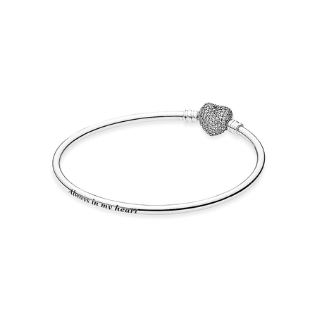 heart sterling melt item winter you silver clasp my moments of bangle bracelets fandola bangles