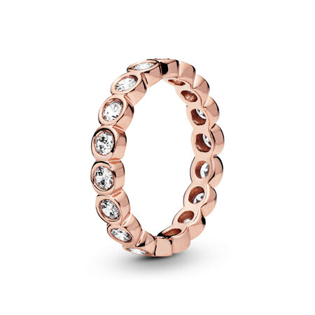 Alluring Brilliant Ring, PANDORA Rose™ & Clear CZ
