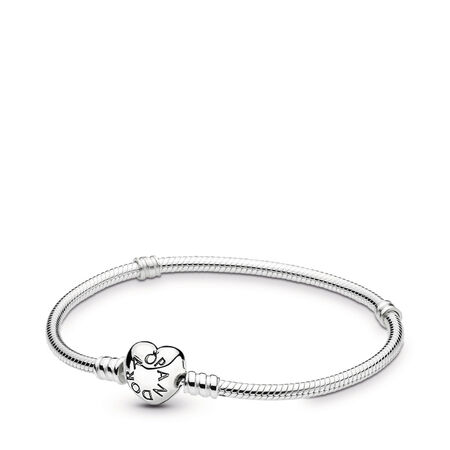 59dae536e84d Brazalete moments de Plata esterlina con broche de corazón