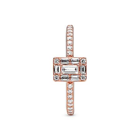 Luminous Ice Ring, PANDORA Rose™ & Clear CZ, PANDORA Rose, Cubic Zirconia - PANDORA - #187541CZ