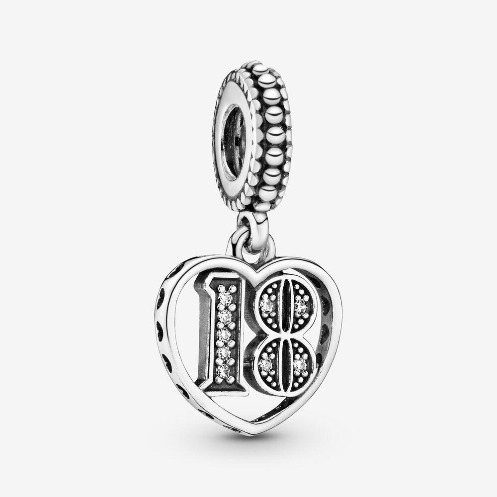 18th Celebration Dangle Charm | Sterling silver | Pandora US