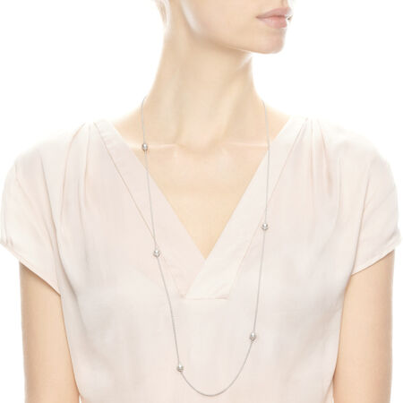 965c5ec0b Luminous Dainty Droplets Necklace, White Crystal Pearl