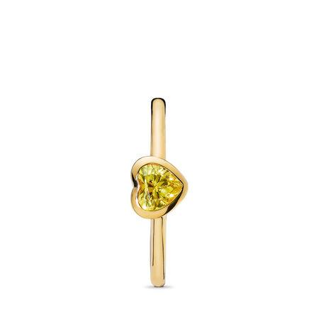 Radiant Heart Ring, PANDORA Shine™ & Yellow Cubic Zirconia