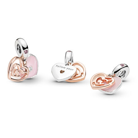 Path to Love Charm,  PANDORA Rose™, Pink Crystal & Enamel
