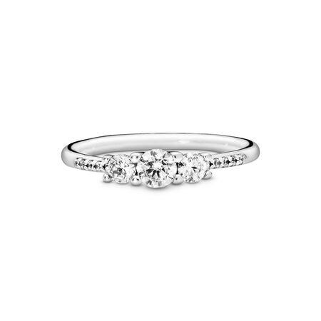 Fairytale Sparkle Ring, Clear CZ