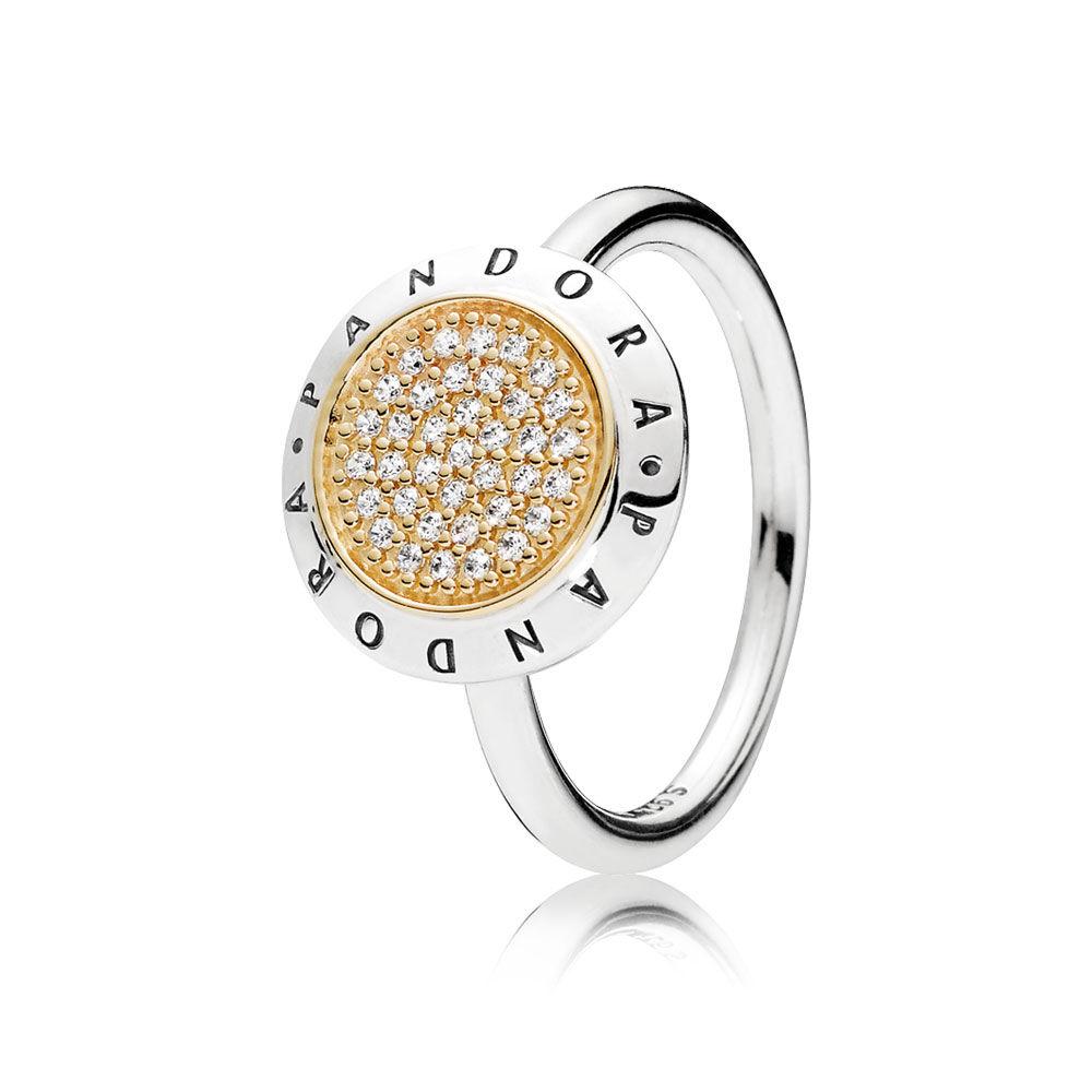 Pandora Signature Ring Clear Cz Pandora Jewelry Us